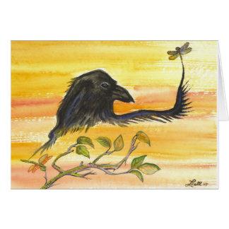 Cartão O corvo encontra a libélula