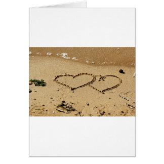 Cartão O costume do amor dos corações do coração