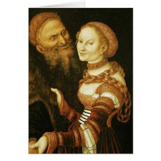 Cartão O Courtesan e o ancião, c.1530