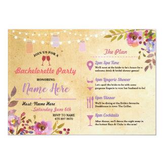 Cartão O creme floral de Bachelorette range o itinerário