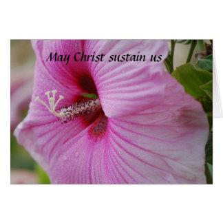 Cartão O cristo de maio sustenta-nos