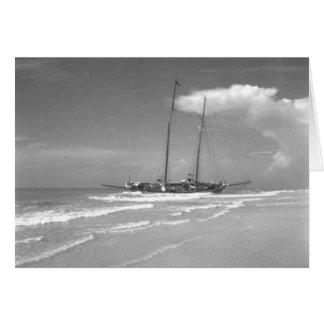 Cartão O cubano Shipwrecked Smack, ilha de Marco, Florida