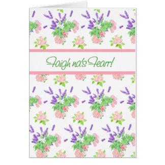 Cartão O cumprimento floral nostálgico do gaélico escocês
