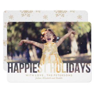Cartão O cumprimento o mais feliz do Natal dos feriados