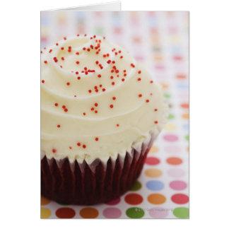 Cartão O cupcake com polvilha