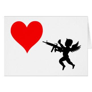 Cartão O Cupido armado destrói o amor