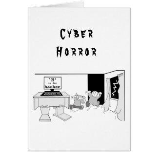 """Cartão O Cyber Horror do cabouqueiro de """"H"""" do"""