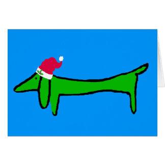 Cartão O Dachshund para o Natal