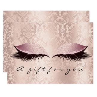 Cartão O damasco do rosa do certificado de presente