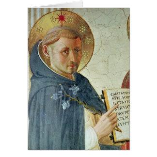 Cartão O delle Ombre de Madonna, detalhe de St Dominic