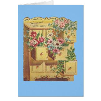 Cartão O departamento do vintage de obtem desejos bons