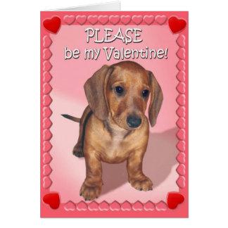 Cartão O desejo de um filhote de cachorro do Dachshund