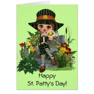 Cartão O design do St Patrick de oferecimento de Kelly