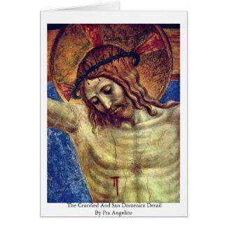 Cartão O detalhe Crucified e de San Domenico