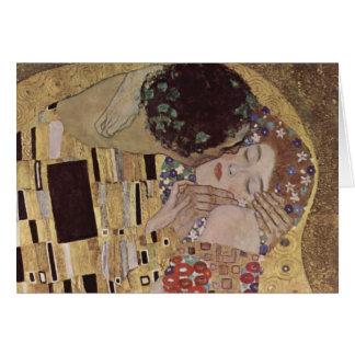 Cartão O detalhe do beijo - Gustavo Klimt