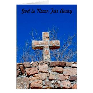 Cartão O deus é nunca longe