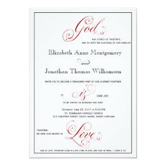 Cartão O deus vermelho elaborado é casamento cristão do