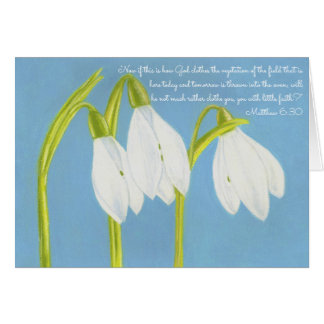 Cartão O deus veste a vegetação Field~Scripture~SnowDrops
