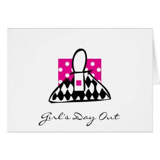 Cartão O dia da menina para fora