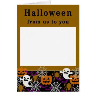 Cartão O Dia das Bruxas adiciona sua própria foto de