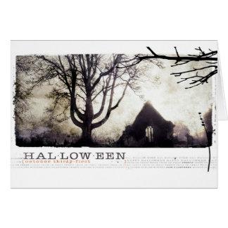 Cartão O Dia das Bruxas assombrou a fotografia gótico do
