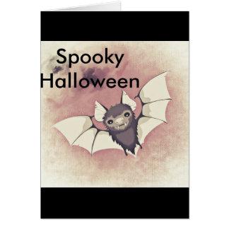Cartão O Dia das Bruxas assustador