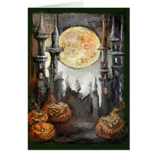 Cartão ** O Dia das Bruxas colossal **