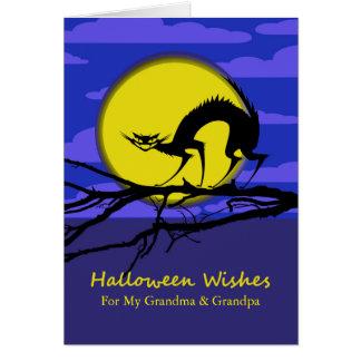 Cartão O Dia das Bruxas dianteiro feito sob encomenda