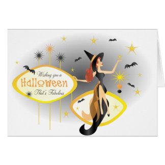 Cartão O Dia das Bruxas fabuloso