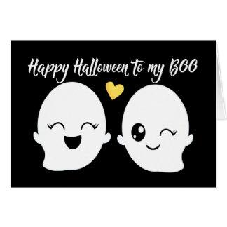 Cartão O Dia das Bruxas feliz a meu fantasma bonito da