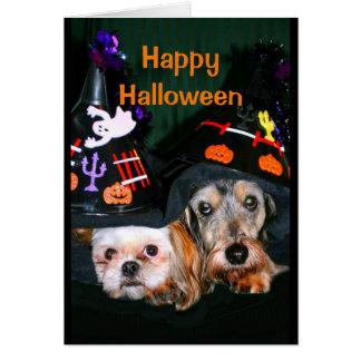 Cartão O Dia das Bruxas feliz - não esteja receoso do