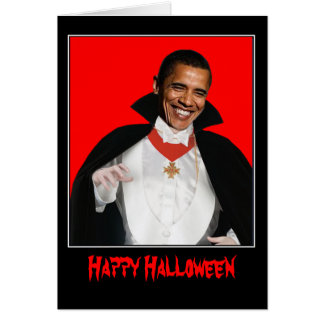 Cartão O Dia das Bruxas feliz Obama