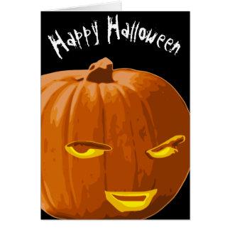 Cartão O Dia das Bruxas feliz você espera a abóbora