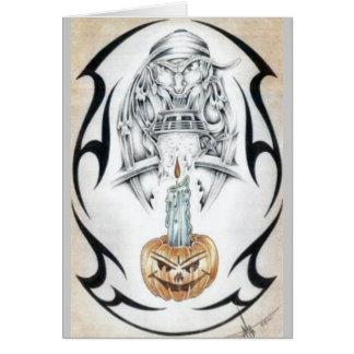 Cartão O Dia das Bruxas não tão feliz