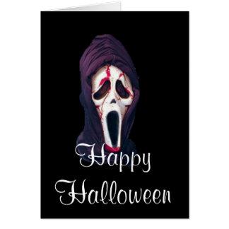 Cartão O Dia das Bruxas o gritar assustador