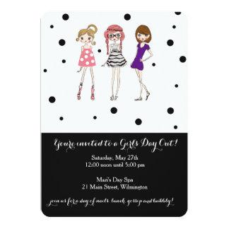 Cartão O dia das meninas/Bachelorette/partido do encanto
