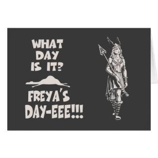 Cartão O dia de Freya