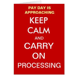 Cartão O dia de pagamento da folha de pagamento mantem a