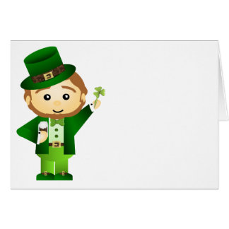 Cartão O dia de Patrick de santo