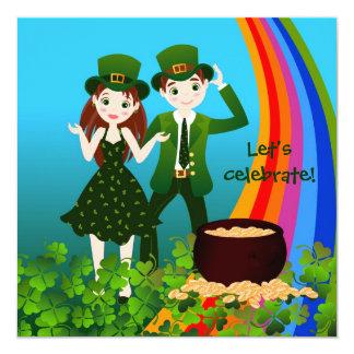 Cartão O dia de Patrick de santo caçoa o partido