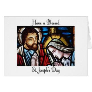 Cartão O dia de St Joseph