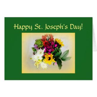 Cartão O dia de St Joseph feliz