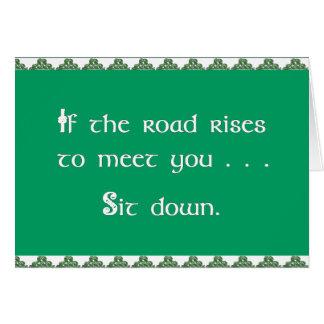 Cartão O dia de St Patrick