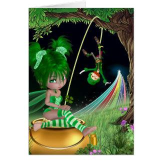 """Cartão O dia de St Patrick da """"hera"""""""