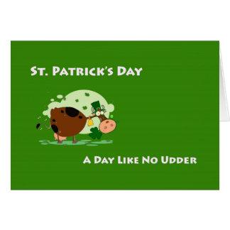Cartão O dia de St Patrick, dia de A não gosta de nenhuma