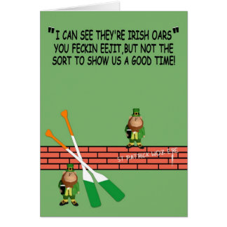 Cartão O dia de St Patrick divertido