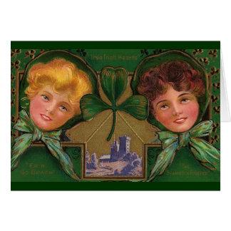 Cartão O dia de St Patrick do vintage