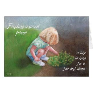 Cartão O dia de St Patrick - encontrando um grande amigo