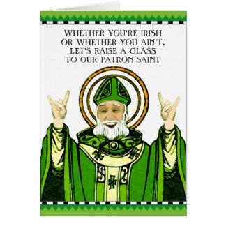Cartão O dia de St Patrick engraçado