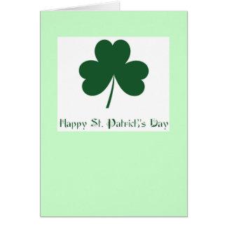 Cartão O dia de St Patrick feliz